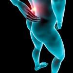 Man backache pain x-ray skeleton — Stock Photo #39119453