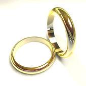 Golden rings — Stock Photo