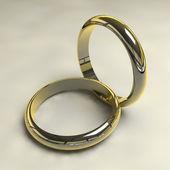 3D golden rings — Stock Photo