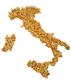 Mapa da itália — Foto Stock