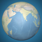 Earth model planet featuring the continent of Asia — Stock Photo