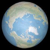 модель планеты земля, показывая на континенте — Стоковое фото