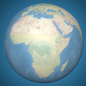 Earth model planet featuring Africa — Stock Photo