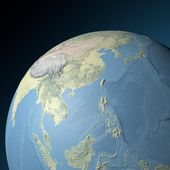 World earth globe arctic, East Asia — Stock Photo