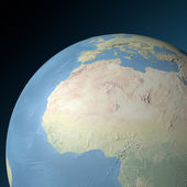 World earth globe western North Africa — Stock Photo