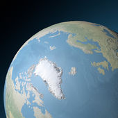 World earth globe arctic, north pole — Stock Photo