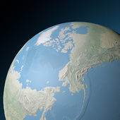 World earth globe arctic, north pole — Stock Photo