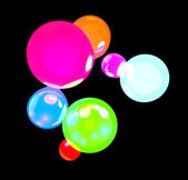 Glowing balls — Stockfoto