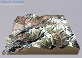 Everest Image furnished by NASA — Stock Photo