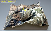 Everest Image furnished by NASA — Foto de Stock