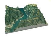 Aerial view of Lake Como, Laglio map — Zdjęcie stockowe