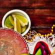 Royalty-Free Stock Photo: Background: Focus on Margarita and Glass