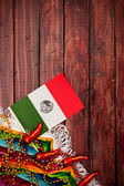 Background: Cinco De Mayo Mexican Flag Background — Stock Photo
