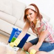 Cleaning: Spring Cleaning and Scrubbing the Floor — Stock Photo #24206091