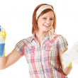 Cleaning: Woman Happy to Clean — Stock Photo #24206435