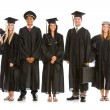 Graduation: Group of Graduates as Various Occupations — Stock Photo