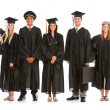 Graduation: Group of Graduates as Various Occupations — Stok fotoğraf