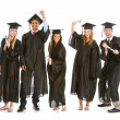 Stock Photo: Graduation: Teens Excited to Graduate
