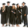 Stock Photo: Graduation: Teen Friends Hang Out in Graduation Attire