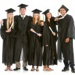 Graduation: Teen Friends Hang Out in Graduation Attire — Stock Photo
