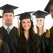 Graduation: Crowd of Cheerful Graduates — Stock Photo #24209629