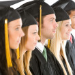Graduation: Group of Graduates Look to the Side — Foto de Stock