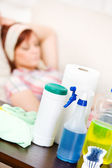 Cleaning: Focus on Cleaning Supplies — Stock Photo