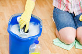 Cleaning: Getting More Soapy Water — Stock Photo