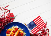 Background: Lower Border Patriotic Summer Background — Stock Photo