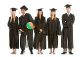 Graduation: Graduates Tired of Class Clown — Stock Photo