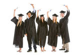 Graduation: Graduates Ready to Go Out into the Real World — Stock Photo