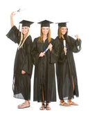 Graduation: Girl Only Group of Graduates — Stock Photo