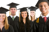 Graduation: Crowd of Cheerful Graduates — Stock Photo