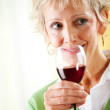 Couple: About to Sip Red Wine — Stock Photo