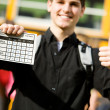 School Bus: Focus on Report Card — Stock Photo #24216141