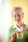 Couple: Having a Cup of Tea — Foto de Stock
