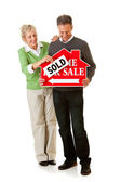 Couple: Couple Selling Their Home — Stock Photo