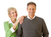 Couple: Confident Smiling Man — Stock Photo