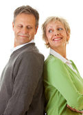 Couple: Man and Woman Standing Together — Stock Photo
