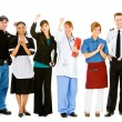 Occupations: Group of Various Businesspeople Cheering — Stockfoto