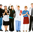 Stock Photo: Occupations: Group of Various Businesspeople Cheering