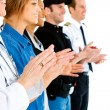 Occupations: Anonymous Applauding - Stockfoto