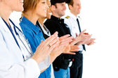 Occupations: Anonymous Applauding — Stock Photo