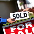 Stock Photo: Home: House is Sold Successfully
