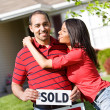 Home: Guy Excited for New Home - Stock Photo