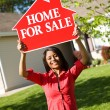 Stock Photo: Home: WomWants to Sell House