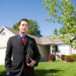 Home: Agent in Front of Home — Stock Photo