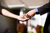 Home: Buyer Gets New Home Keys — Stock Photo
