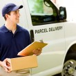 Stock Photo: Delivery: MLooking for Correct Address