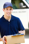 Delivery: Delivering a Package — Stock Photo